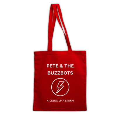 Pete & the Buzzbots Lighting Strike Handy Tote Bag