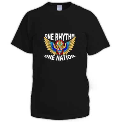 Skull Wings One Rhythm One Nation Men's Tee