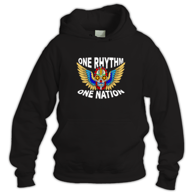 Skull Wings One Rhythm One Nation Hoodie