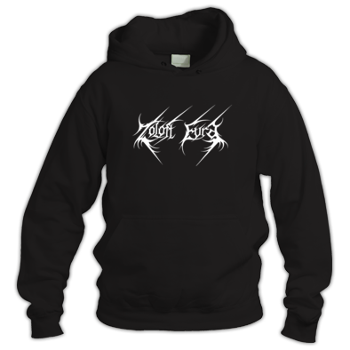 ZOLOFT EVRA  White Logo Black Hooded Sweater Unisex