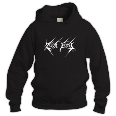 ZOLOFT EVRA  White Logo Black Hooded Sweater Unisex