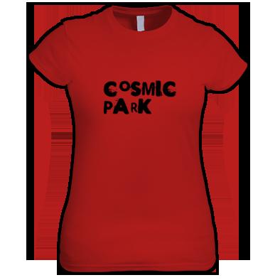 Cosmic Park Text Logo Womens T-Shirt