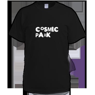 Cosmic Park White Text Logo Mens T-Shirt