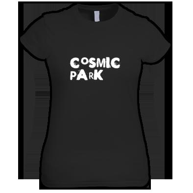 Cosmic Park White Text Logo Womens T-Shirt