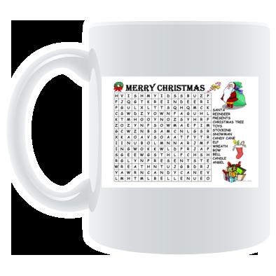 Limited Edition Christmas Word Search Mug