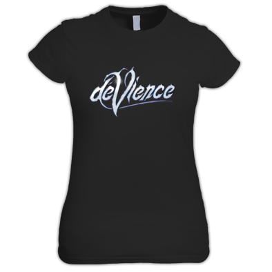 Womans T-shirt with Silver Logo