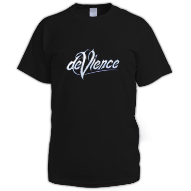 Mens T-Shirt with Silver Logo