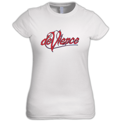 Womens T-shirt with Red Logo