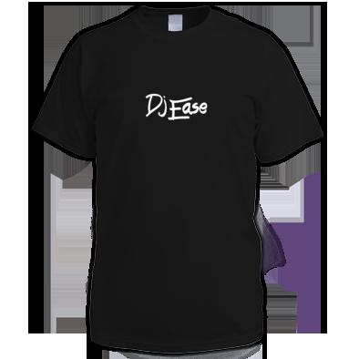 Dj Ease Large White Logo T Shirt