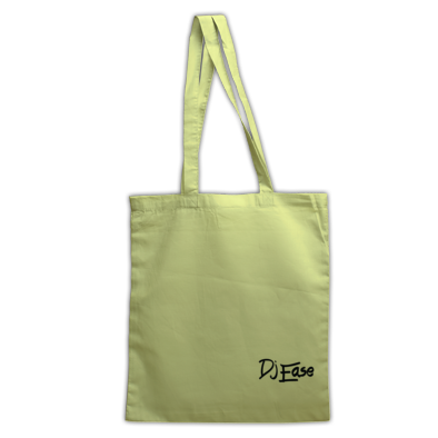 Dj Ease Large Black Logo Tote Bag