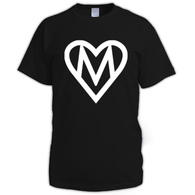 MOOOSE Large Heart logo T-shirt M