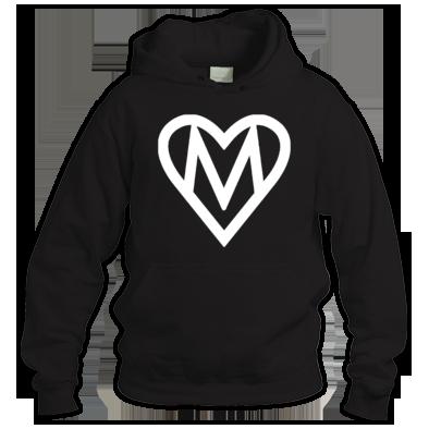 MOOOSE Large Heart logo Hoodie