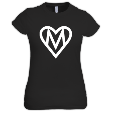 MOOOSE Large Heart logo T-shirt F