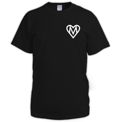 MOOOSE Small Heart logo T-shirt M