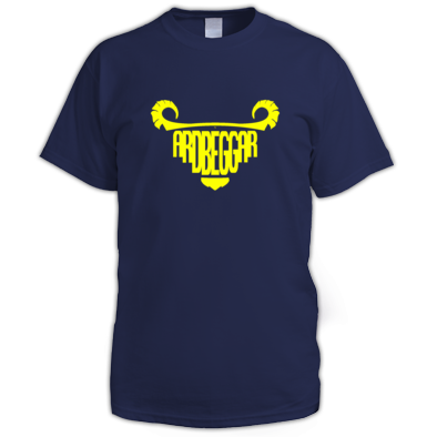 Yellow on Navy