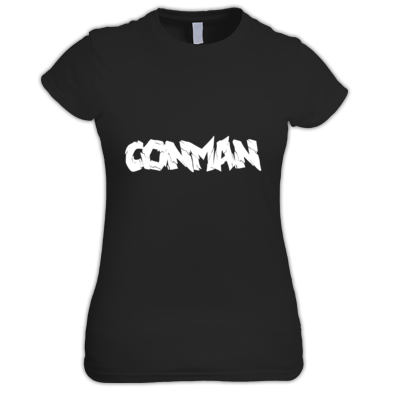 BLACK WOMANS CONMAN T-SHIRT