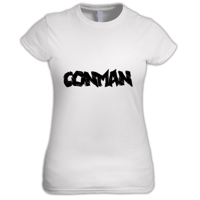 WHITE WOMANS CONMAN T-SHIRT