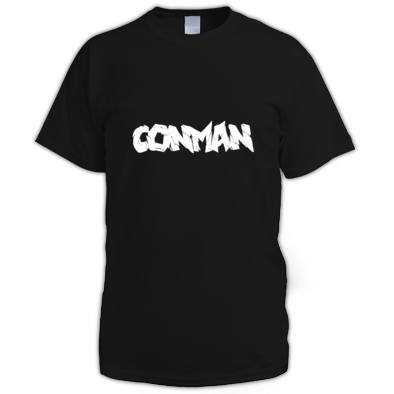 BLACK MENS CONMAN T-SHIRT