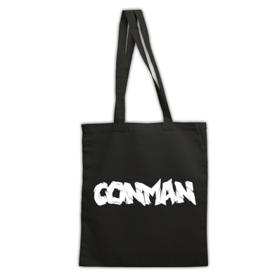 BLACK CONMAN TOTE BAG
