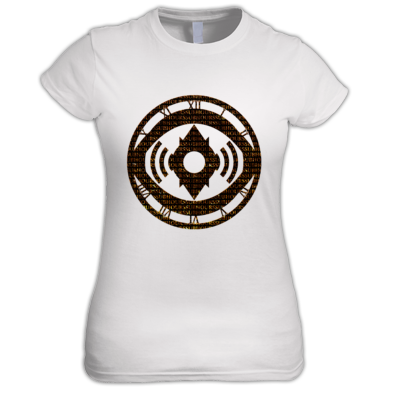 Golden Wordy Ladies Tee