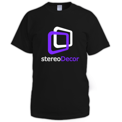 White-Purple stereoDecor Logo