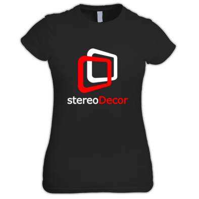 White-Red stereoDecor Logo