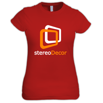 White-Orange stereoDecor Logo