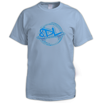 Shirt Men - 8 Days Late - Blue Logo