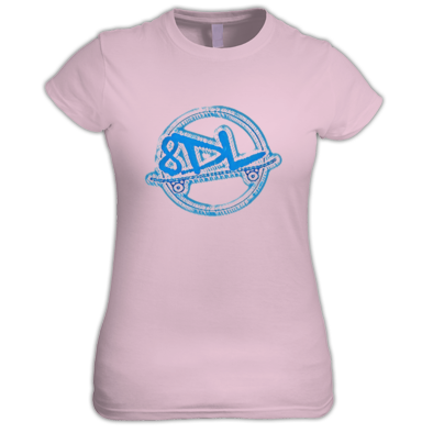 Shirt Woman - 8 Days Late - Blue Logo