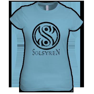 Ladies Distressed Circle Logo T-Shirt