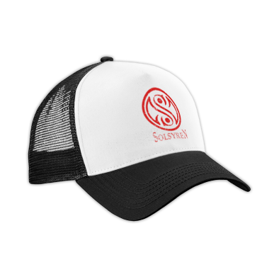 Distressed Circle Logo Trucker Hat
