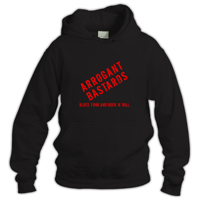 Black Hoodie - Red Text