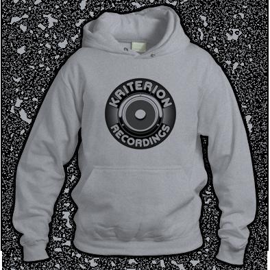 Kriterion Mens Grey Hoody Black logo