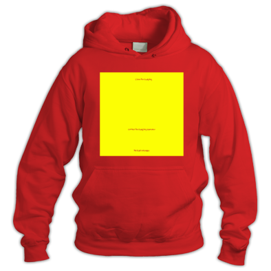 Yellow on Red