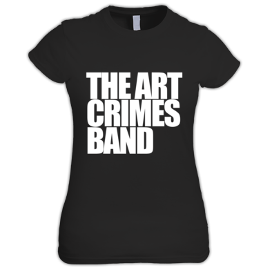 The Art Crimes Band White Text Women's