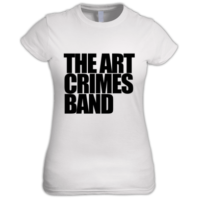 The Art Crimes Band Black Text Women's