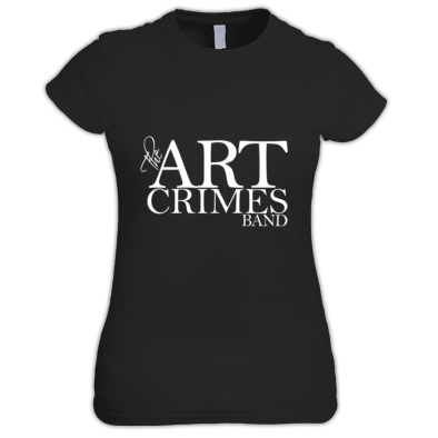 The Art Crimes Band Logo White Women's