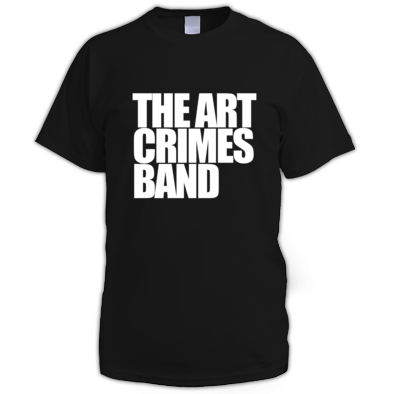 The Art Crimes Band White Text Men's