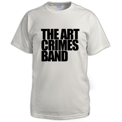 The Art Crimes Band Black Text Men's