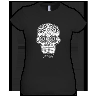 Women's Skull Cursive Tee