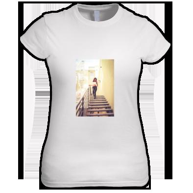 Stairs Photo White T-Shirt