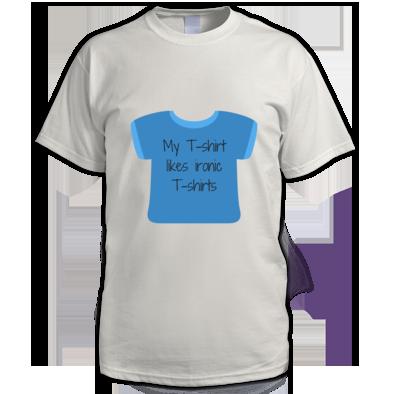 My t-shirt likes ironic t-shirts