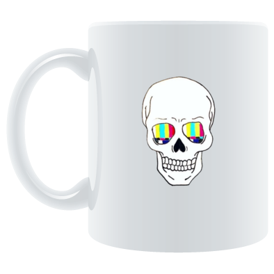 TV Skull Logo 'Mug On A Mug' Mug