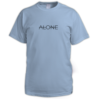 "Blue ""Alone"" Tee"
