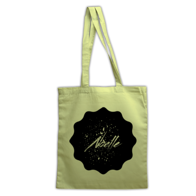 Noelle Black Logo Tote Bag