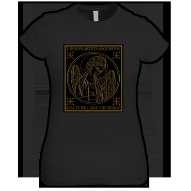 """Eurasian Artists Association """"Beauty Will Save The World"""" Women Black T-Shirt"""