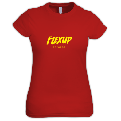 Flex Up Records Tees Girl Yellow
