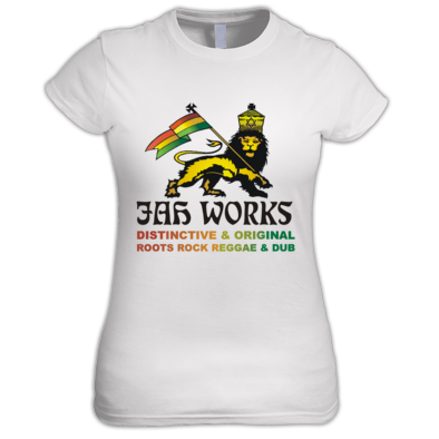 Jah Works Black logo Womens T shirt