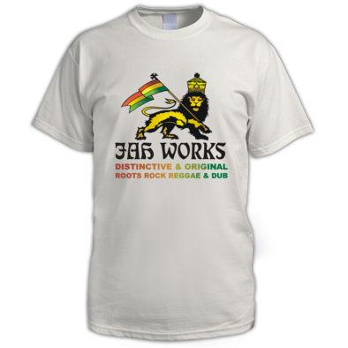 Jah Works Black logo Mens T shirt