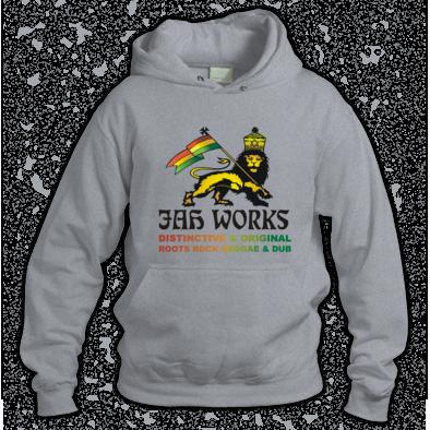 Jah Works Black logo Hoodie
